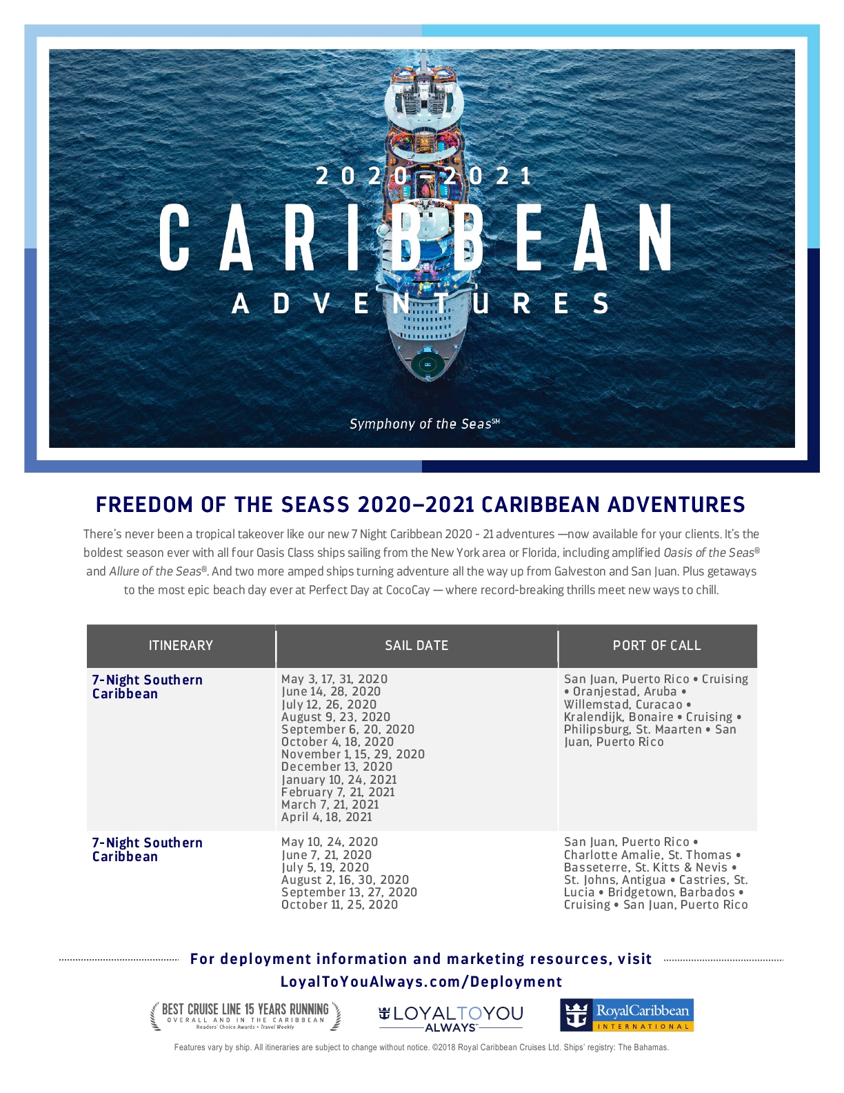 ROYAL CARIBBEAN CARIBE 2020/2021